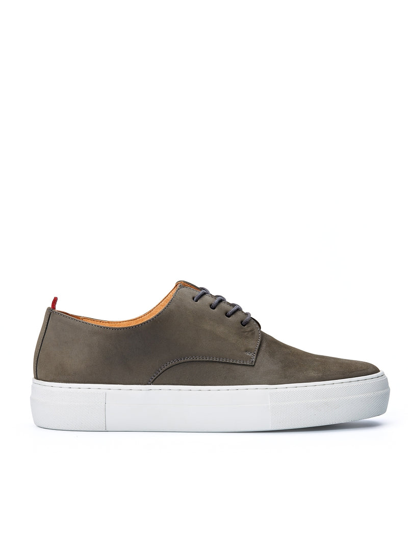 Coventry Shoes Leather Nubuck Grey