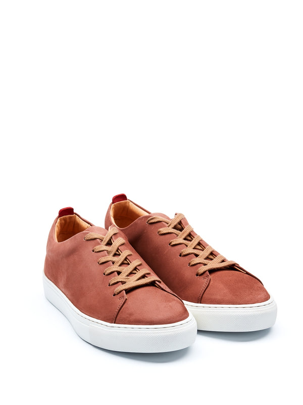 Marton Trainers Leather Nubuck Rust
