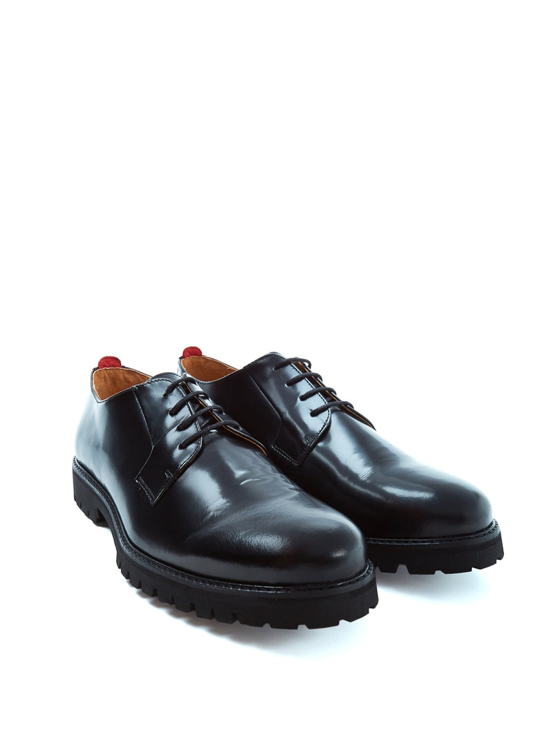 Broadway Shoe High Shine Leather Black