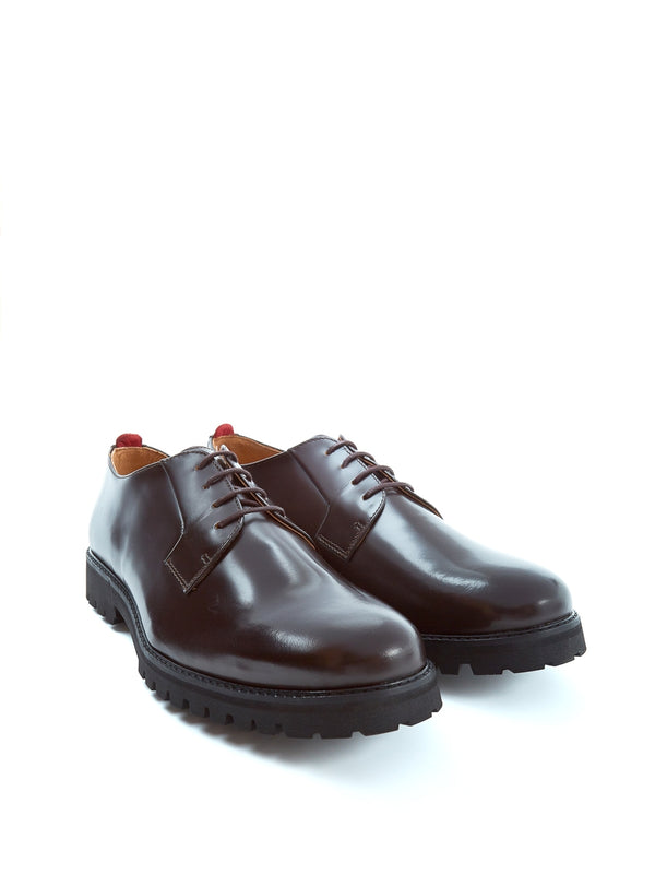 Broadway Shoe High Shine Leather Chocolate