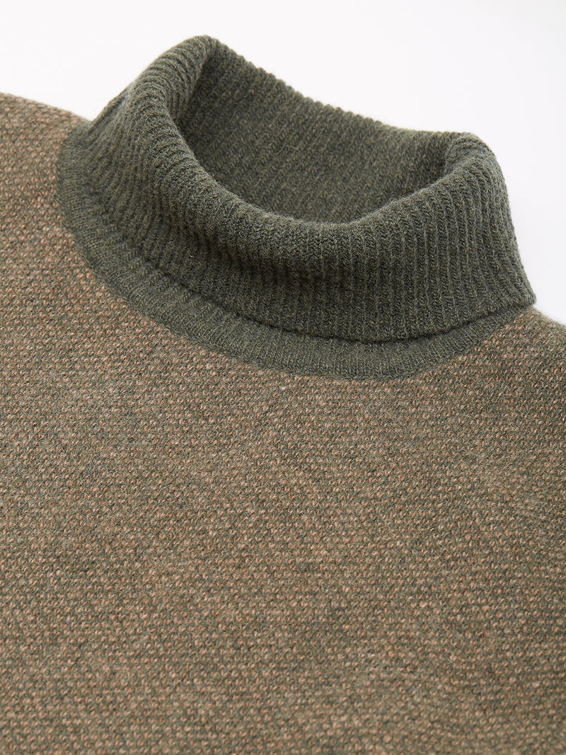 Talbot Roll Neck Jumper Foyle Green Multi