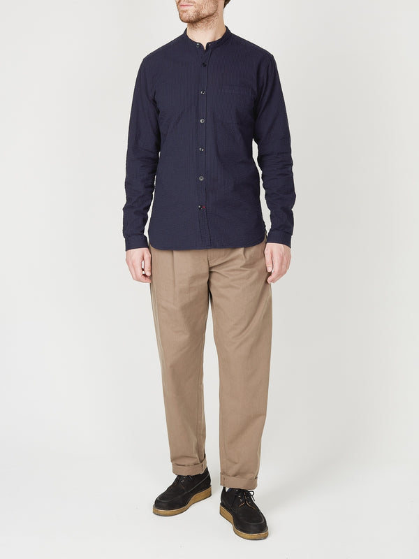 Grandad Shirt Hattison Navy