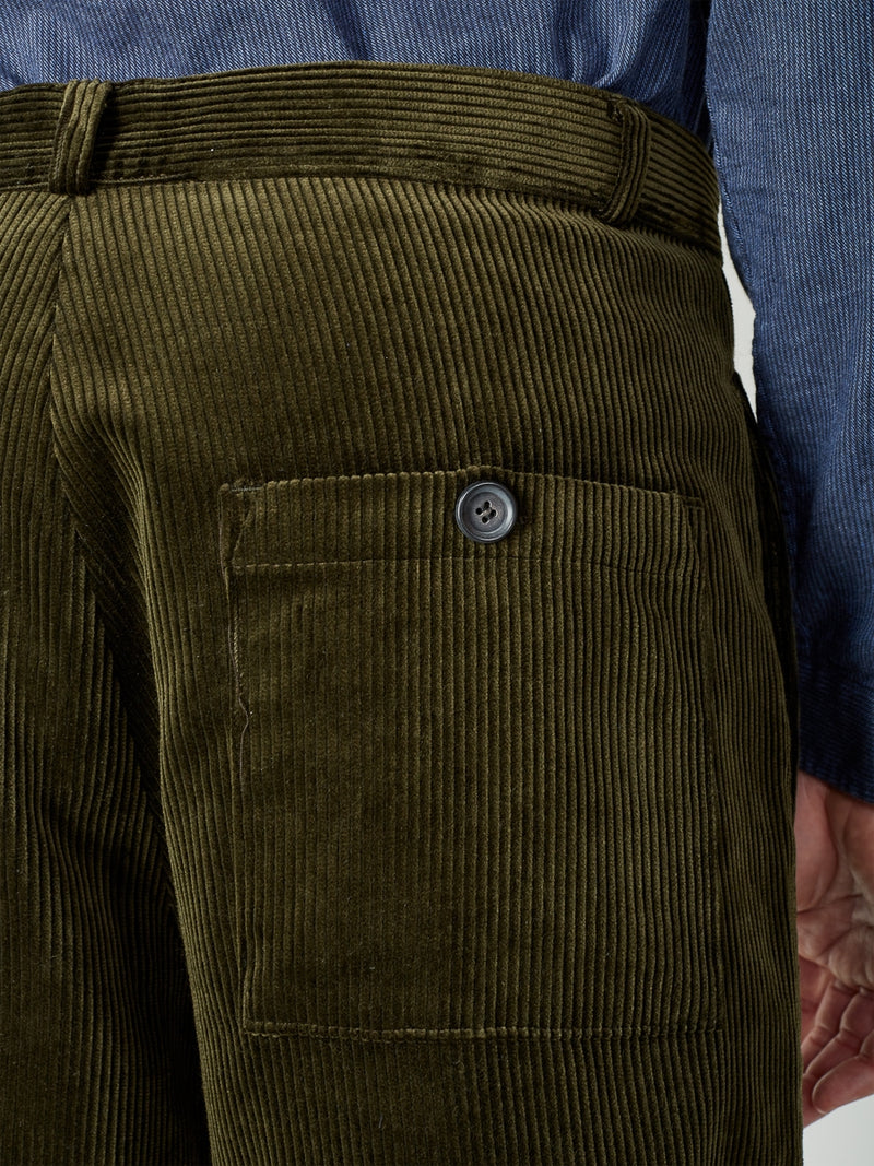 Judo Trousers Kingsley Cord Green