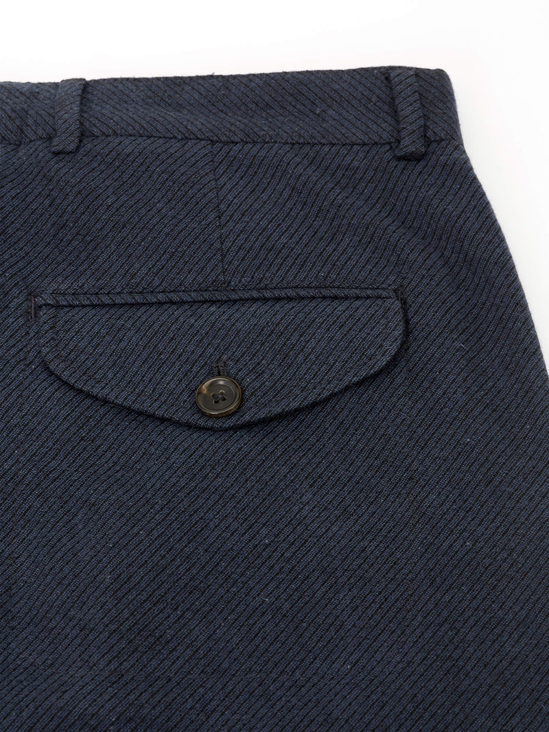 Fishtail Trousers Saunders Navy