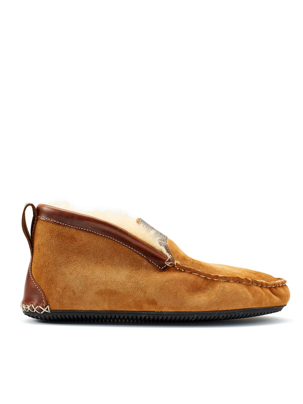 Quoddy Dorm Boot Shearling Chestnut