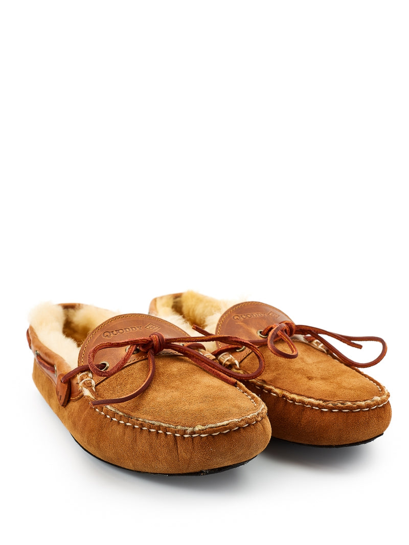 Quoddy Fireside Slipper Shearling Chestnut