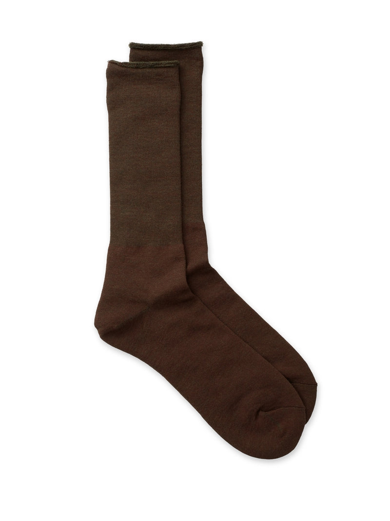Ro To To City Socks Brown/Olive
