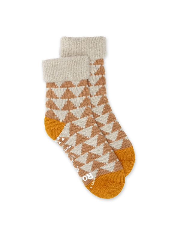 Ro To To Comfy Room Socks Beige/Gold