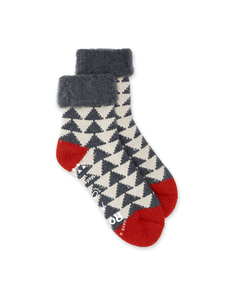 Ro To To Comfy Room Socks Charcoal/Red
