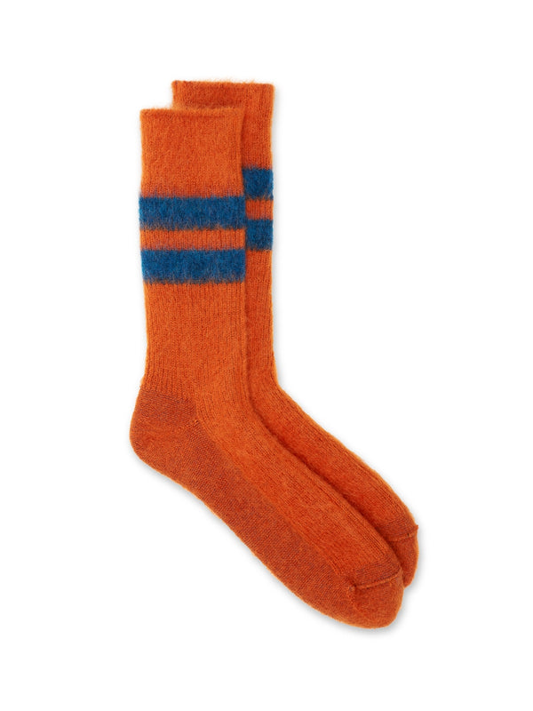 Ro To To Reversible Mohair Socks Orange