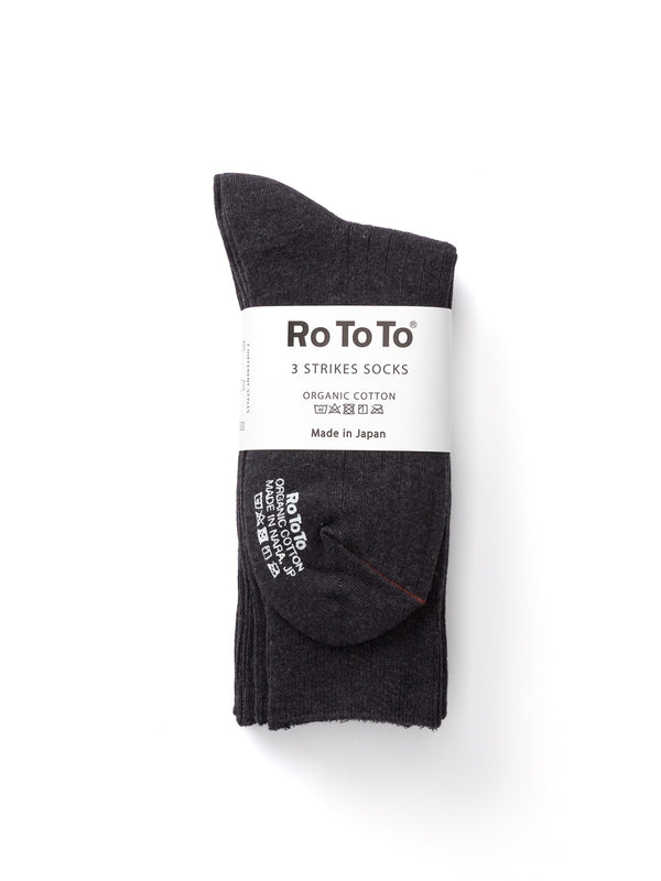 Ro To To 3 Strikes Socks Charcoal
