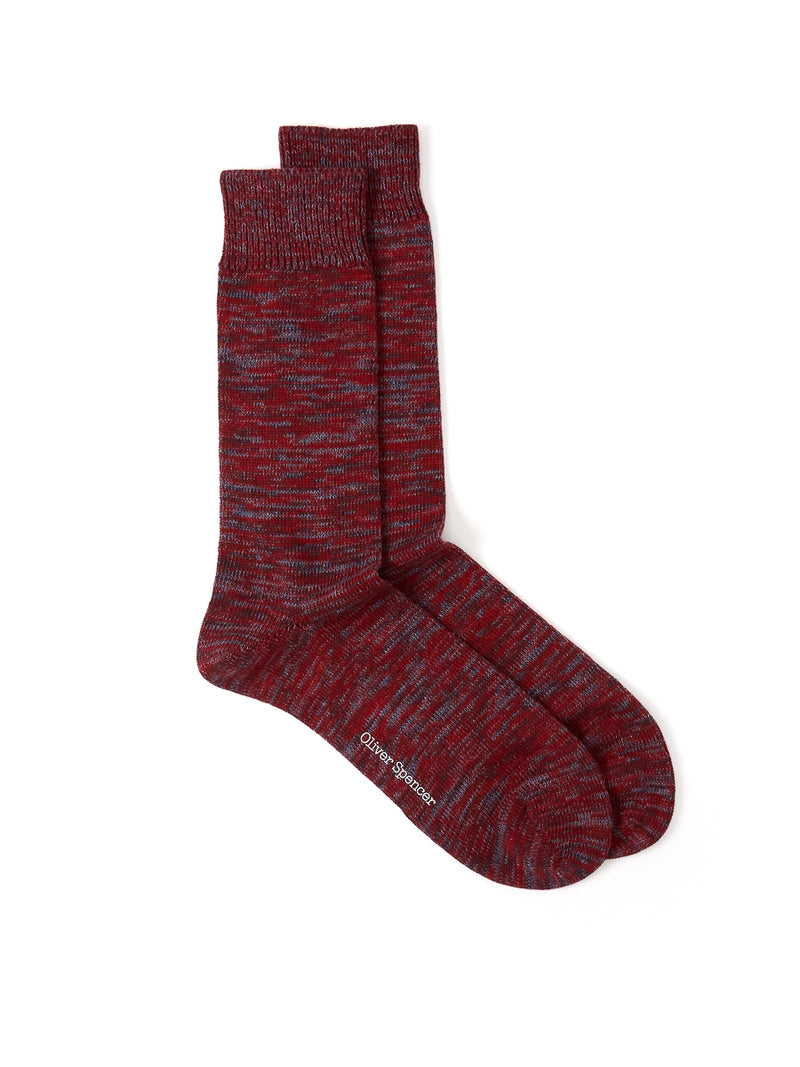 Miller Socks Dodd Burgundy Multi