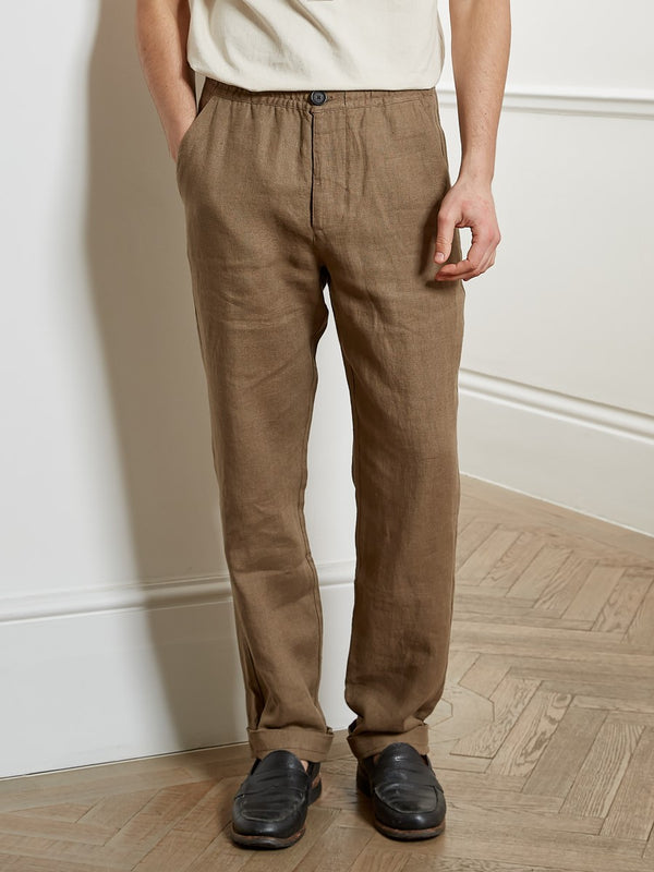 Drawstring Trousers Evering Taupe