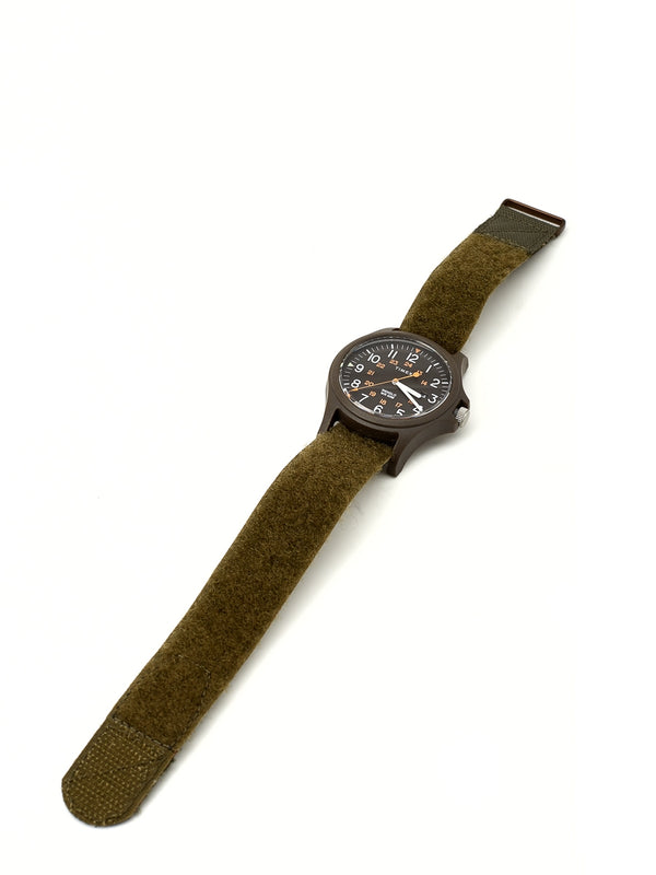 Timex Acadia Watch Olive/Olive Velcro