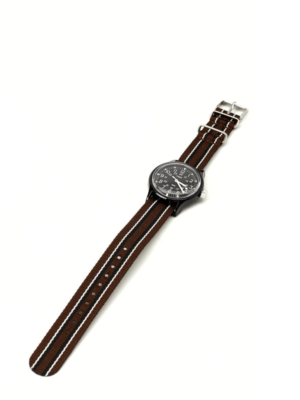 Timex Camper MK1 Watch Black/Brown Grosgrain