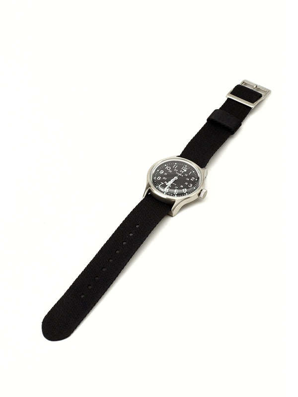 Timex Camper MK1 Metal Watch Grey/Black Grosgrain