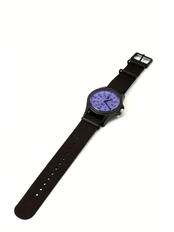 Timex Acadia Watch Black/Black Grosgrain
