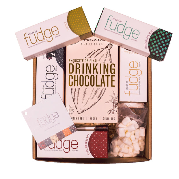 Winter Gift Pack | 8 Fudges & Drinking Chocolate