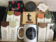 Ultimate Father's Day Gift Pack | 8 Fudges, Happy Socks, Tea, Mug & Candle