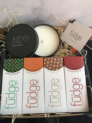 Gift Pack | 4 Fudges & Adore Candle