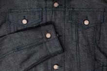 Load image into Gallery viewer, Cornerstone Red Cross Hatch Selvedge Jean Jacket