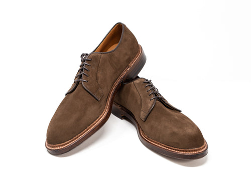 Plain Toe Blucher - Suede