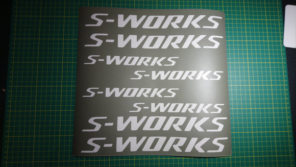 Specialized S-Works Bike Decal Stencil Set.