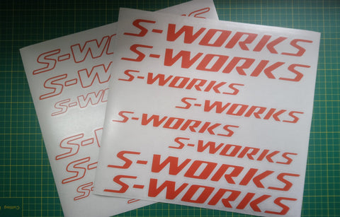 Specialized S-Works Sticker Decal Graphics 2