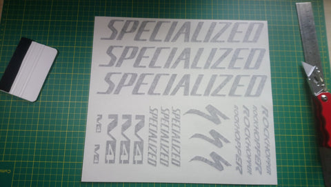 Gloss Black Specialized M4 Rockhopper Graphics Set.
