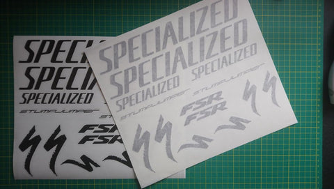 Clear and Paper Vinyl Bike Decal Application Tape Examples.