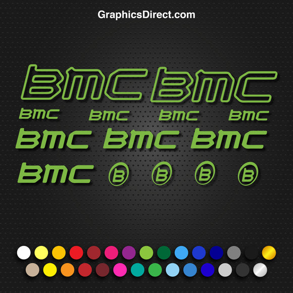 BMC Bike Frame Graphics Set Photo.
