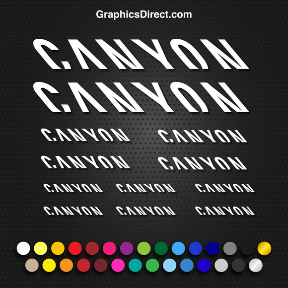 Canyon Bike Graphics Set Photo