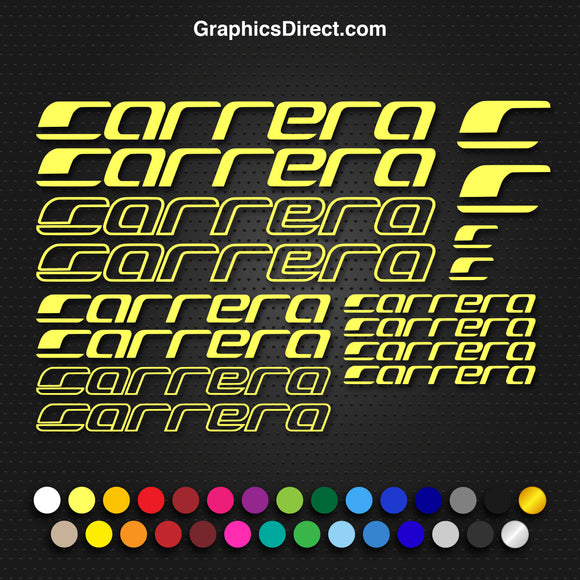 Carrera Replacement Vinyl Decals Stickers MTB Road Cycling Bike.