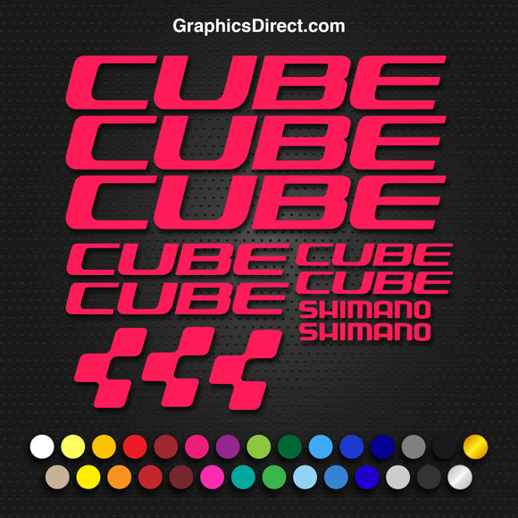 Cube Vinyl Replacement Decal Sticker Sets