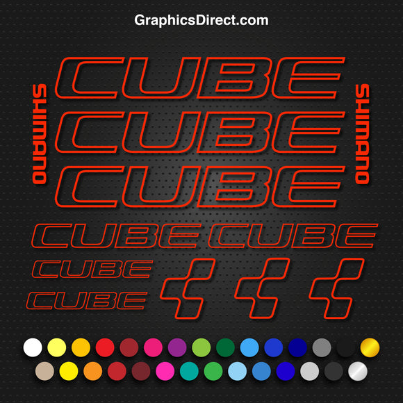 Cube Outline Bike Decal Set Photo-1