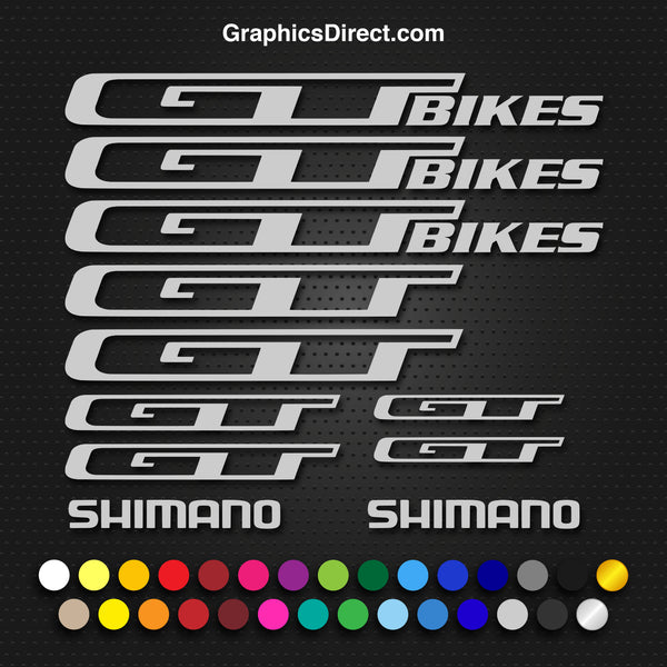 GT Bikes Replacement Vinyl Decal Graphic Sticker Set MTB DH XC Bike