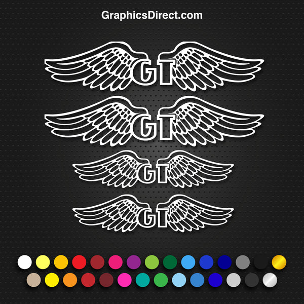 GT Wings Replacement Vinyl Decal Graphic Sticker Set MTB DH XC Bike