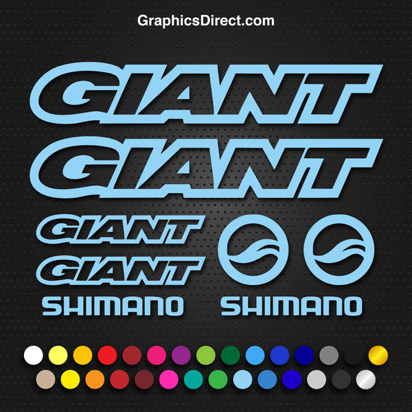 Giant Replacement Vinyl Decal Graphic Sticker Set MTB DH XC Bike Outline