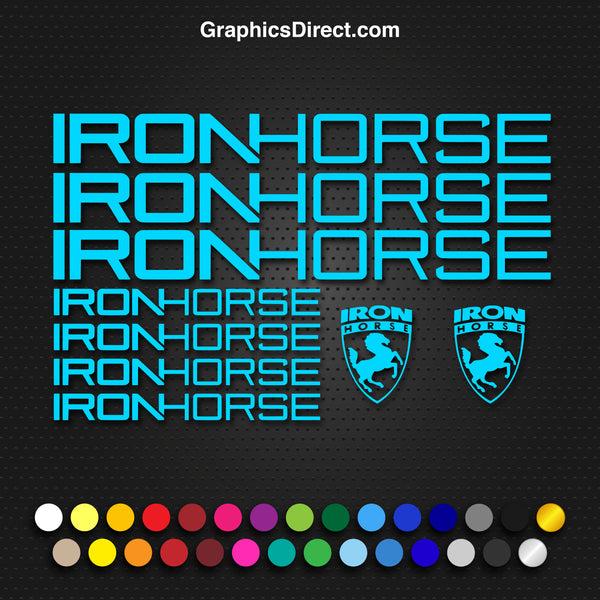Iron Horse Replacement Vinyl Decal Graphic Sticker Set MTB DH XC Bike