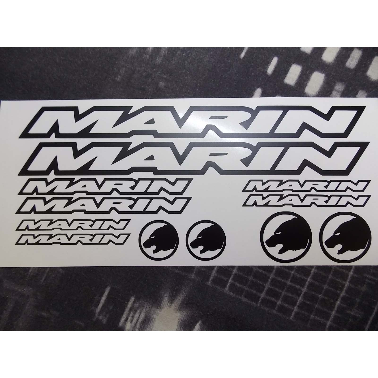 Marin outlined graphics set
