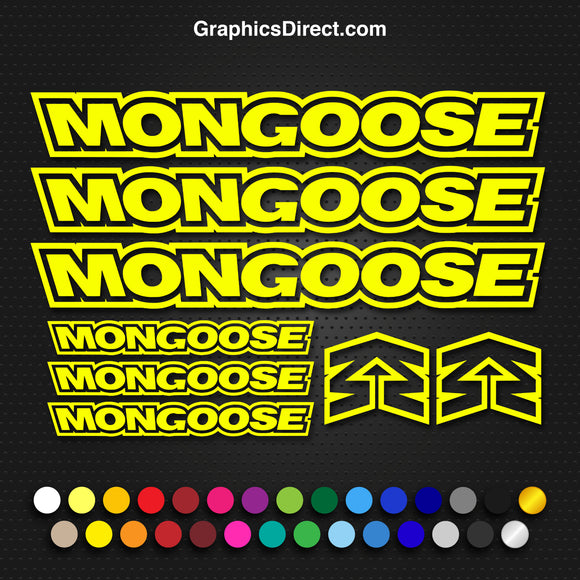 Mongoose Replacement Vinyl Decal Graphic Sticker Set MTB DH XC Bike