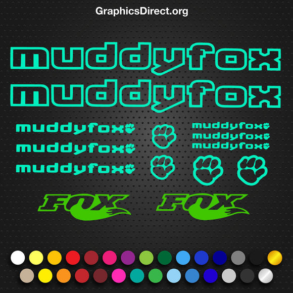 Muddyfox Decal Set (101)