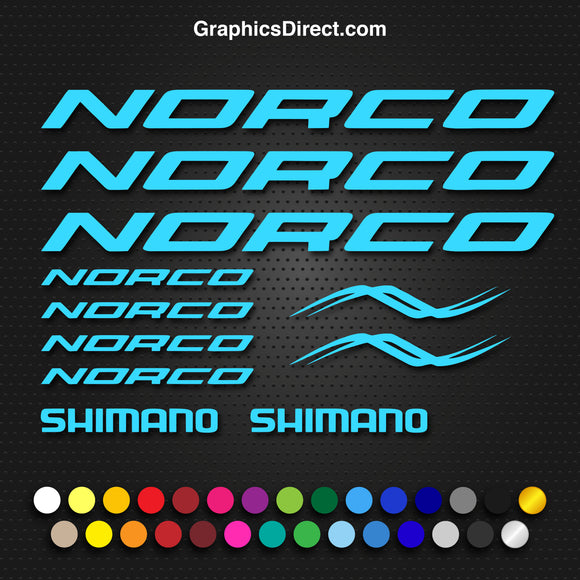 Norco Replacement Vinyl Decal Graphic Sticker Set MTB DH XC Bike