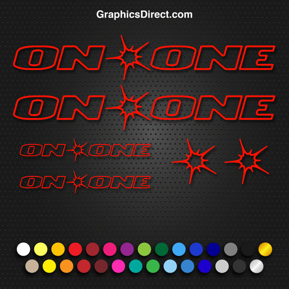 On One Replacement Vinyl Decal Graphic Sticker Set MTB DH XC Bike Outline