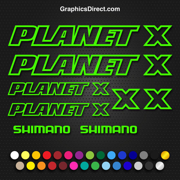 Planet X Replacement Vinyl Decal Graphic Sticker Set MTB DH XC Bike Outline