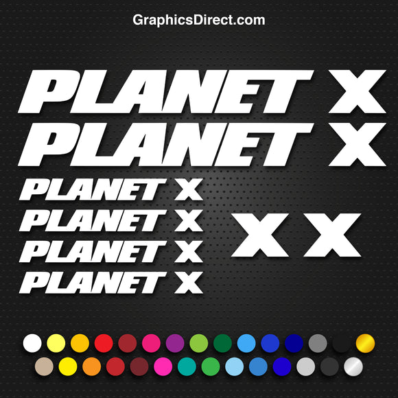 Planet X Replacement Vinyl Decal Graphic Sticker Set MTB DH XC Bike