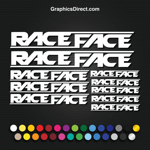 Race Face Graphics Set Photo (EB014)