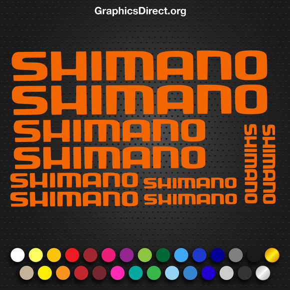 Shimano Cycle Decal Sticker Set (101) Photo.