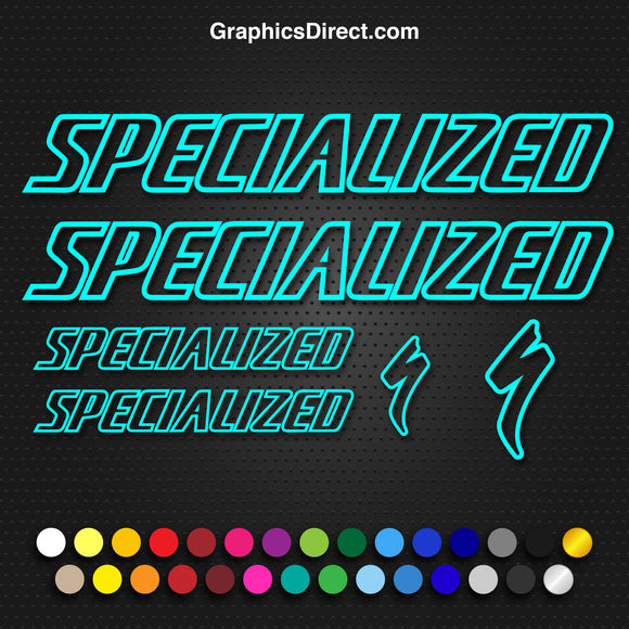 Specialized Replacement Vinyl Decal Graphic Sticker Set MTB DH XC Bike Outline V2