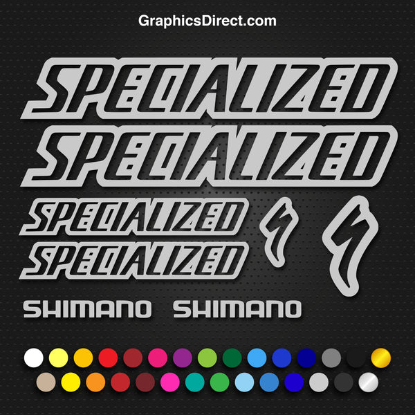 Specialized Replacement Outlined Vinyl Decal Graphic Sticker Set MTB DH XC Bike Outline